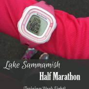 Mile Markers: Lake Sammamish Half Marathon Training Week 8