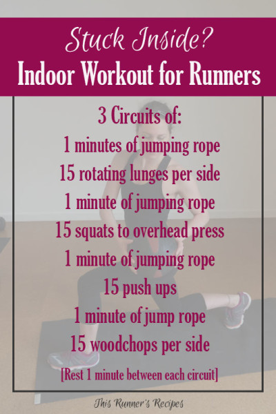 6 Indoor Workouts for Runners {Monthly Workout Roundup}