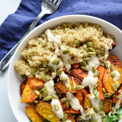 Roasted Root and Quinoa Buddha Bowl