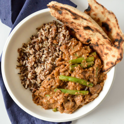 Lentil and Mushroom Curry with Wild Rice