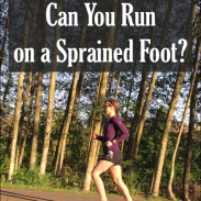 Can You Run on a Sprained Foot?