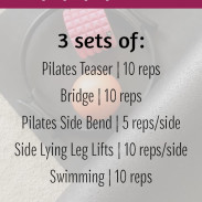 Pilates Style Core Workout