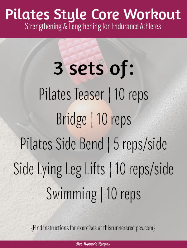 Try this no equipment Pilates Style Core Workout for endurance athletes to strengthen or lengthen after your next run!