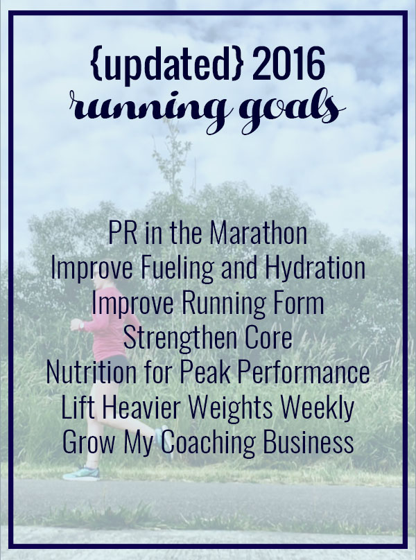 Updated 2016 Running Goals