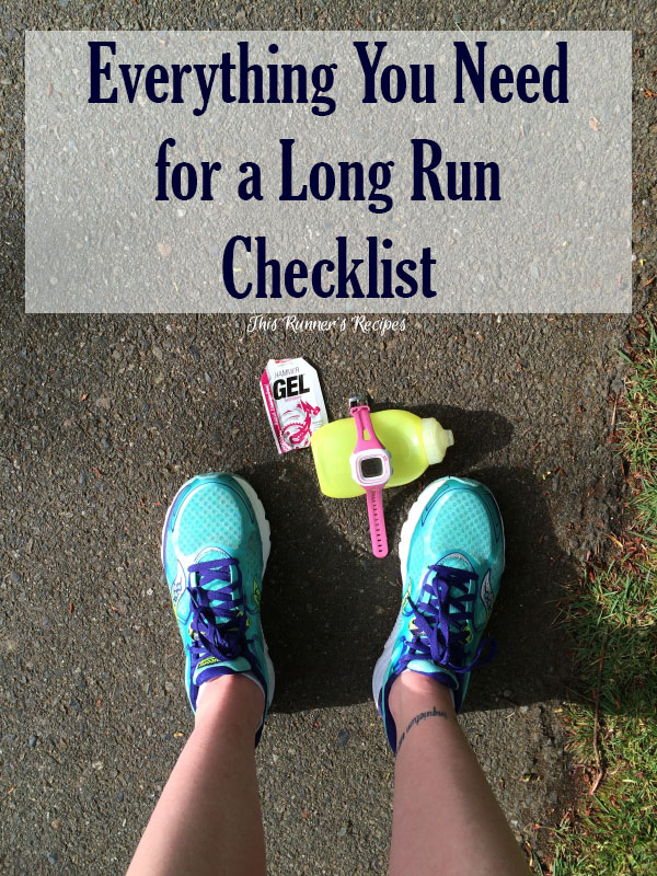 Pre Long Run Checklist: Everything you need for a successful and enjoyable long run in marathon or half marathon training.