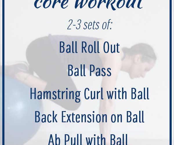 Stability Ball Core Workout: 5 Stability Exercises to Strengthen Your Core for Faster Running