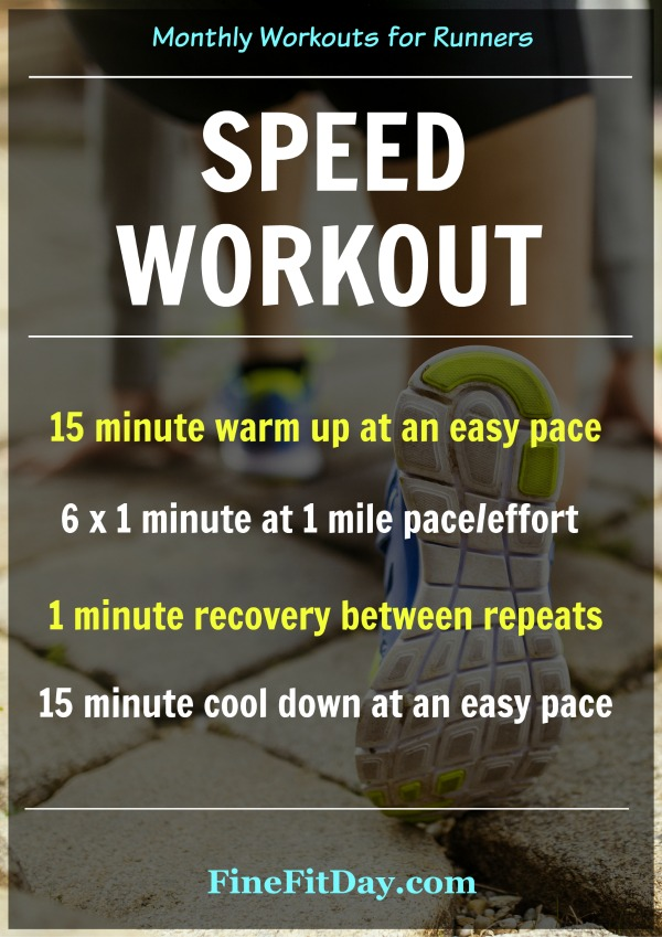 6 Speed Workouts for Runners: Fine Fit Day