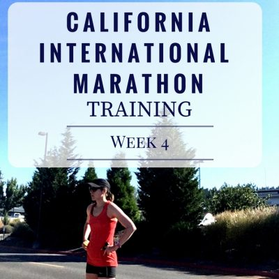 California International Marathon Training Week 4
