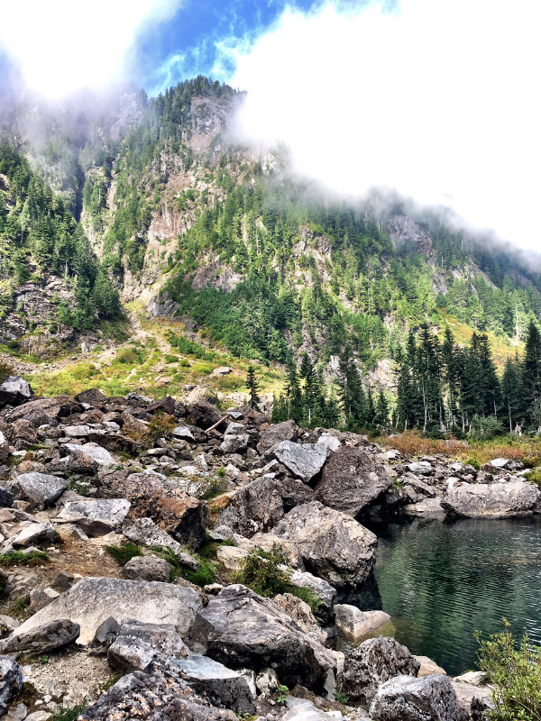 Hiking at Heather Lake