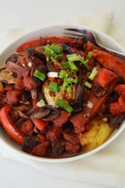 Eggplant Cacciatore {Vegetarian Recipe Challenge}