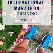 California International Marathon Training Week 9