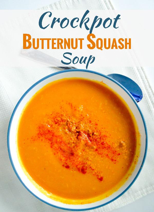 Crockpot Butternut Squash Soup (Dairy-Free)