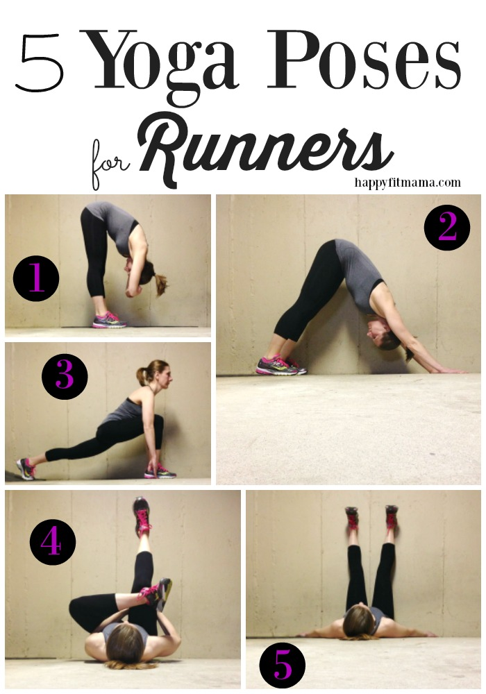 Try these 5 yoga poses for runners after your next run to help restore balance and symmetry to your muscles - happyfitmama.com