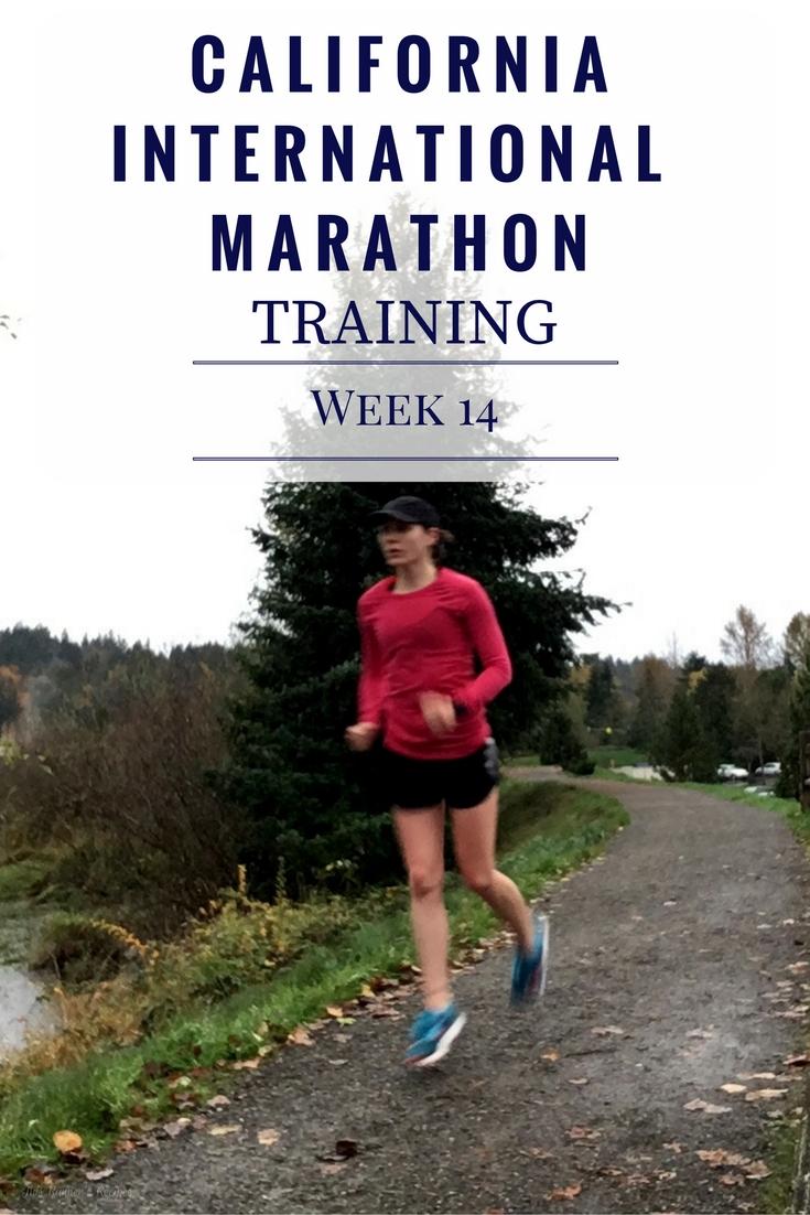 California International Marathon Training Week 14