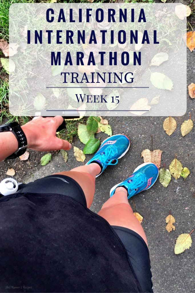 California International Marathon Training Week 15