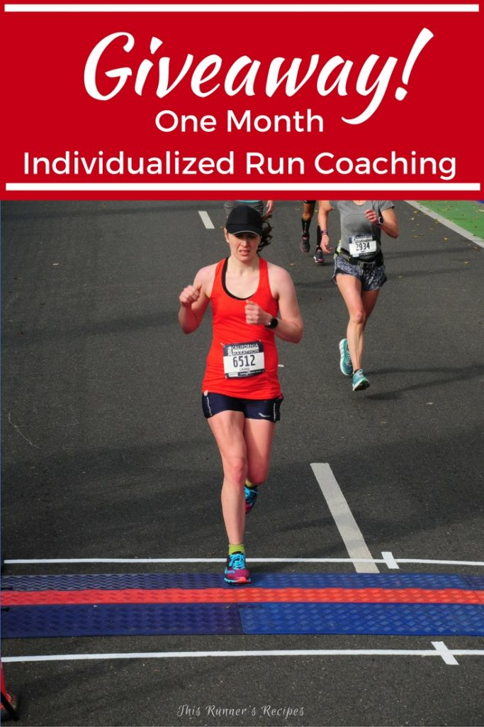 This Runner's Recipes 2017 Goals Giveaway - Win One Free Month of Individualized Run Coaching!