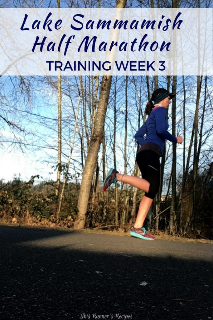 Lake Sammamish Half Marathon Training Week 3