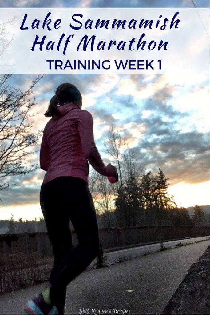 Lake Sammamish Half Marathon Training Week 1