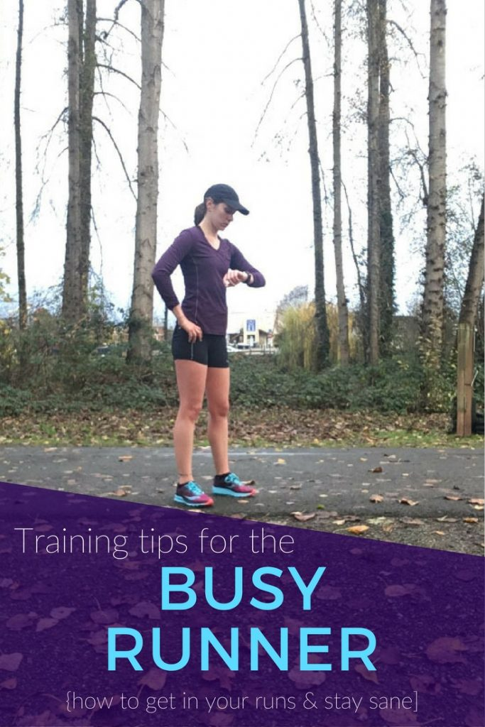 Training on a busy schedule: how to get your runs in while staying balanced and sane.
