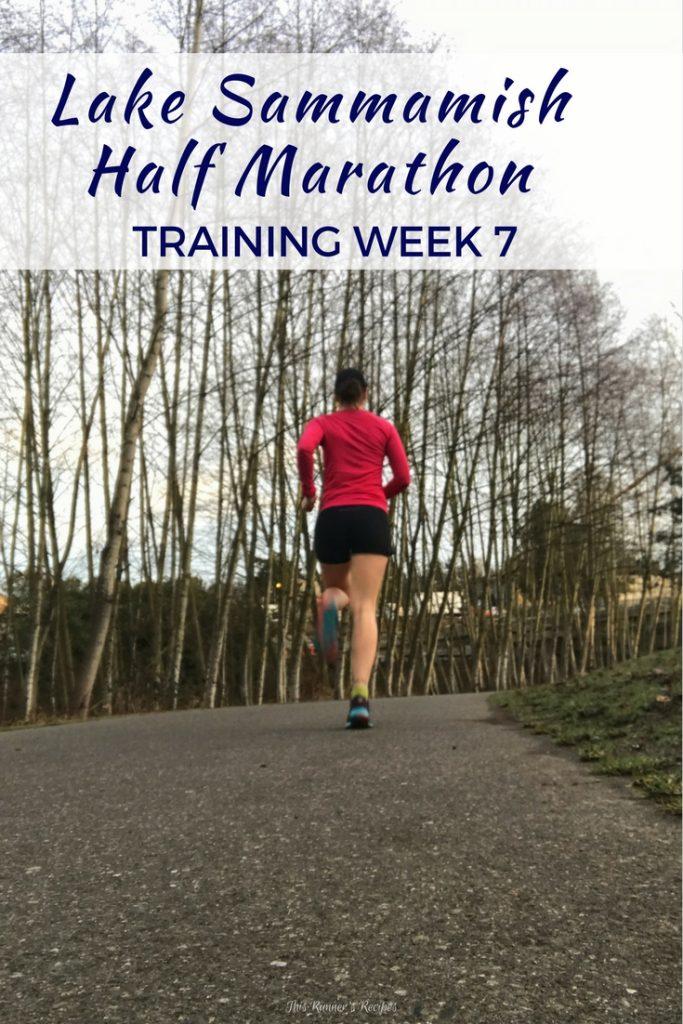 Lake Sammamish Half Marathon Training Week 7