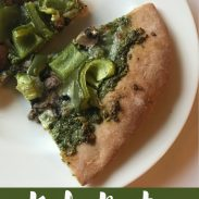 Kale Pesto Veggie Pizza