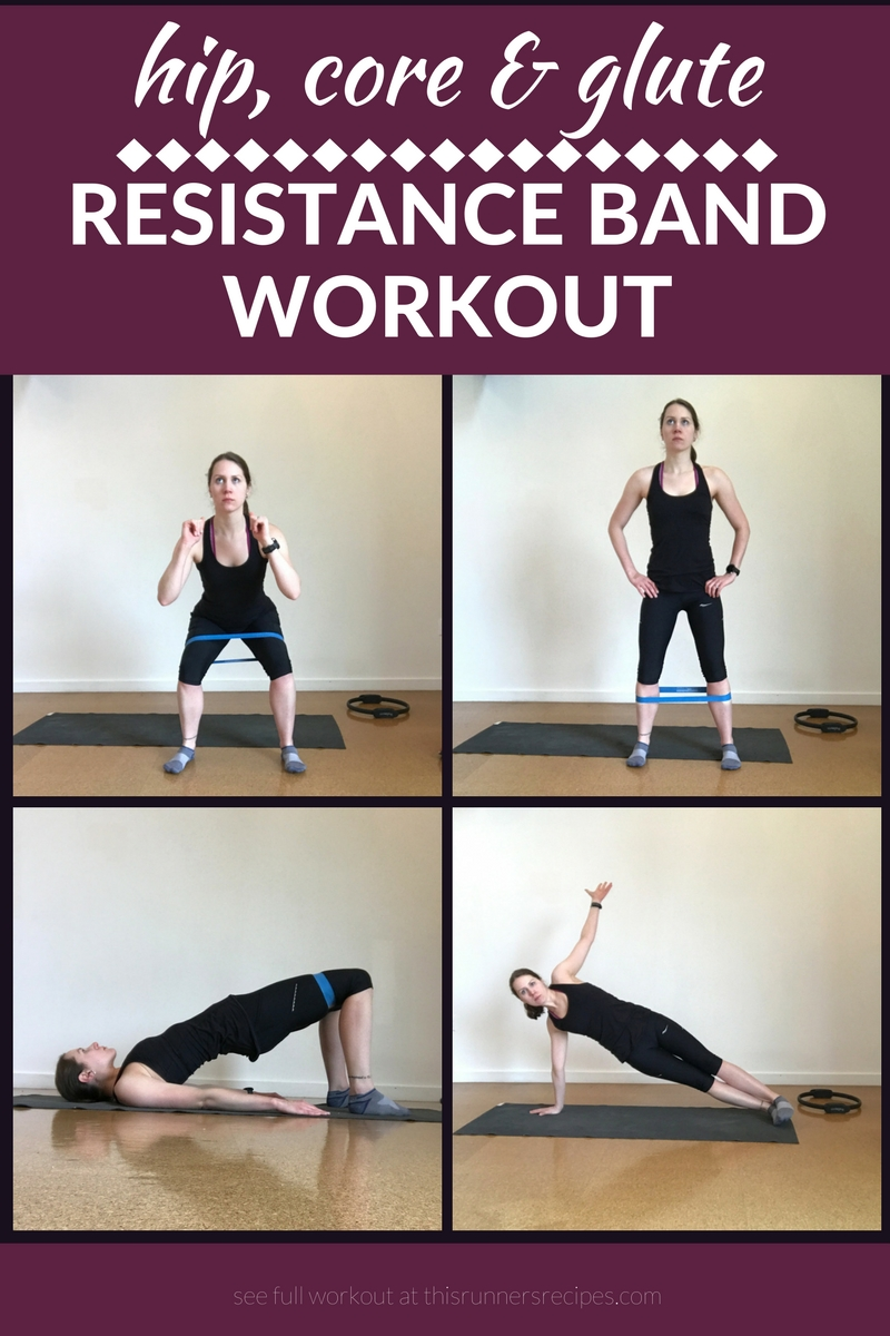 Hip Core And Glute Resistance Band Workout