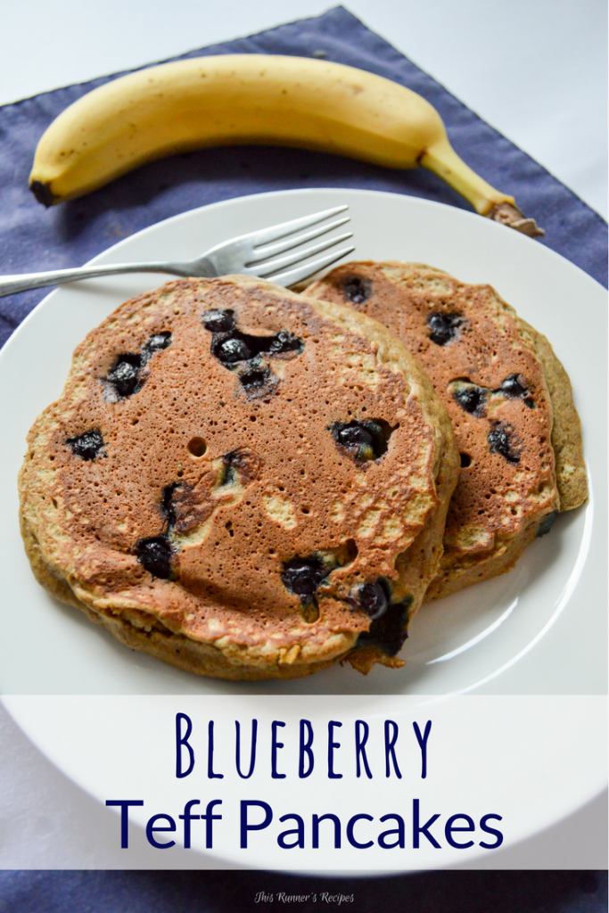 Blueberry Teff Pancakes