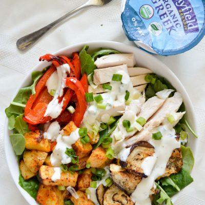 Spiced Chicken Salad with Creamy Greek Yogurt Dressing