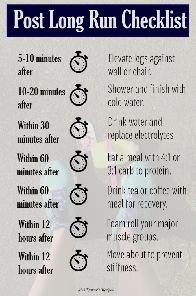 How to Maximize Your Long Run: Long Run Recovery Checklist