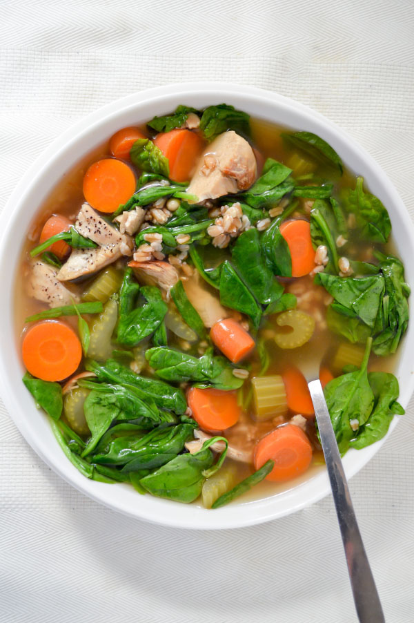 Chicken Vegetable Farro Soup