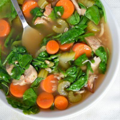 Chicken Vegetable Farro Soup