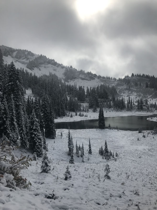The First Snowfall at Mount Rainier