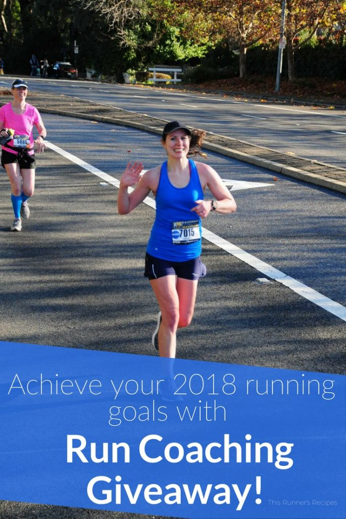Run Coaching Giveaway - Win a free month of run coaching from This Runner's Recipes!