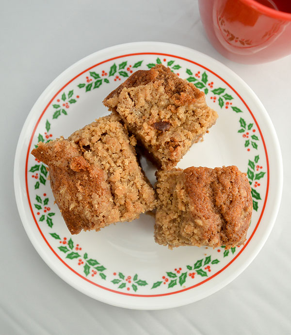 Winter Spice Whole Wheat Coffee Cake made with Stonyfield Organic Yogurt