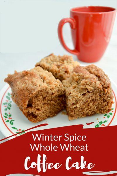 Winter Spice Whole Wheat Coffee Cake {Stonyfield}