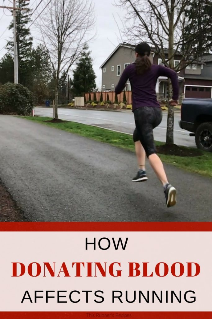 How Donating Blood Affects Running