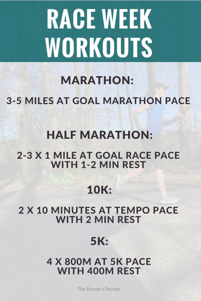 Race Week Workouts to Prepare You for a Strong Race