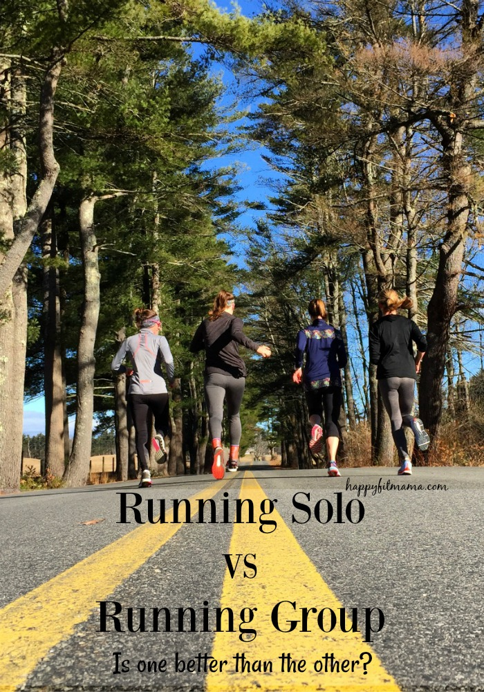 Running Solo vs Running in a Group - Is one better happyfitmama.com