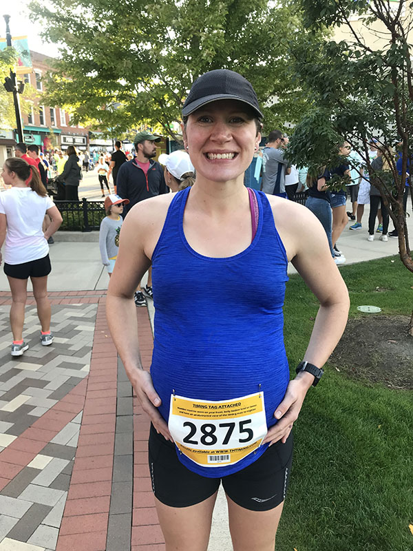 Mile Markers: Racing at 38 Weeks