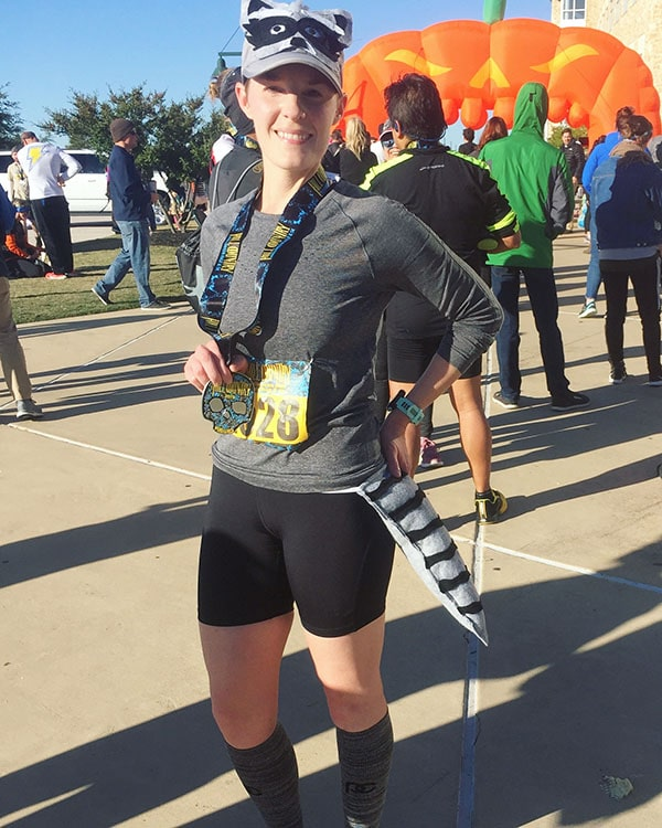 Grace ran her PR time on a harder course at the Haunted Half Marathon!