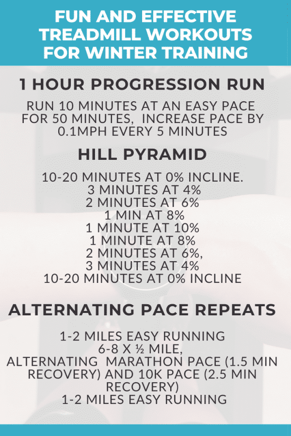 Four Treadmill Workouts for Winter Training